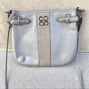 Coach Colette Crossbody Bag purse gray leather